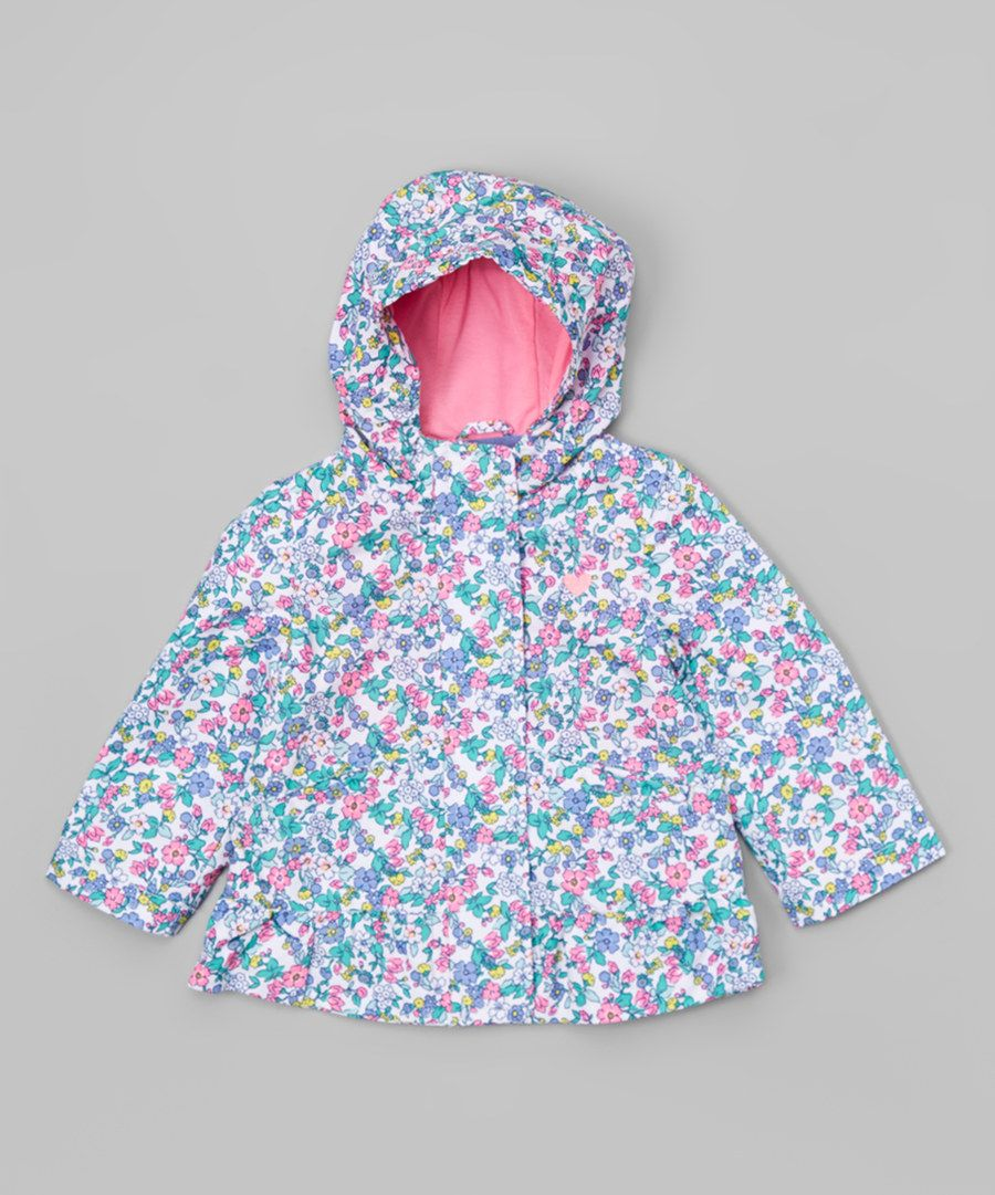 Look at this Pink Floral Ruffle Windbreaker - Infant, Toddler & Girls on #zulily today!