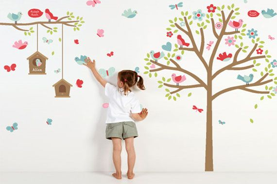 Google Image Result For  Http://www.interiorfans.com/wp Content/uploads/2011/12/Creative Wall Decals  Ideas For Kids Bedroom Image 174