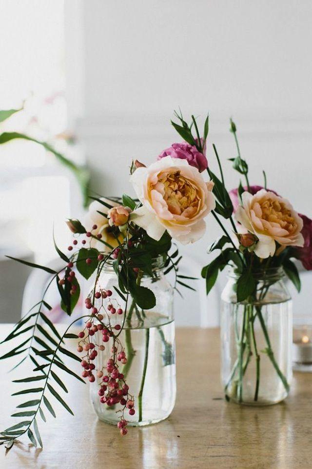 Kleine Vasen Schnittblumen Dekoration Blumen Blumen Vase Und