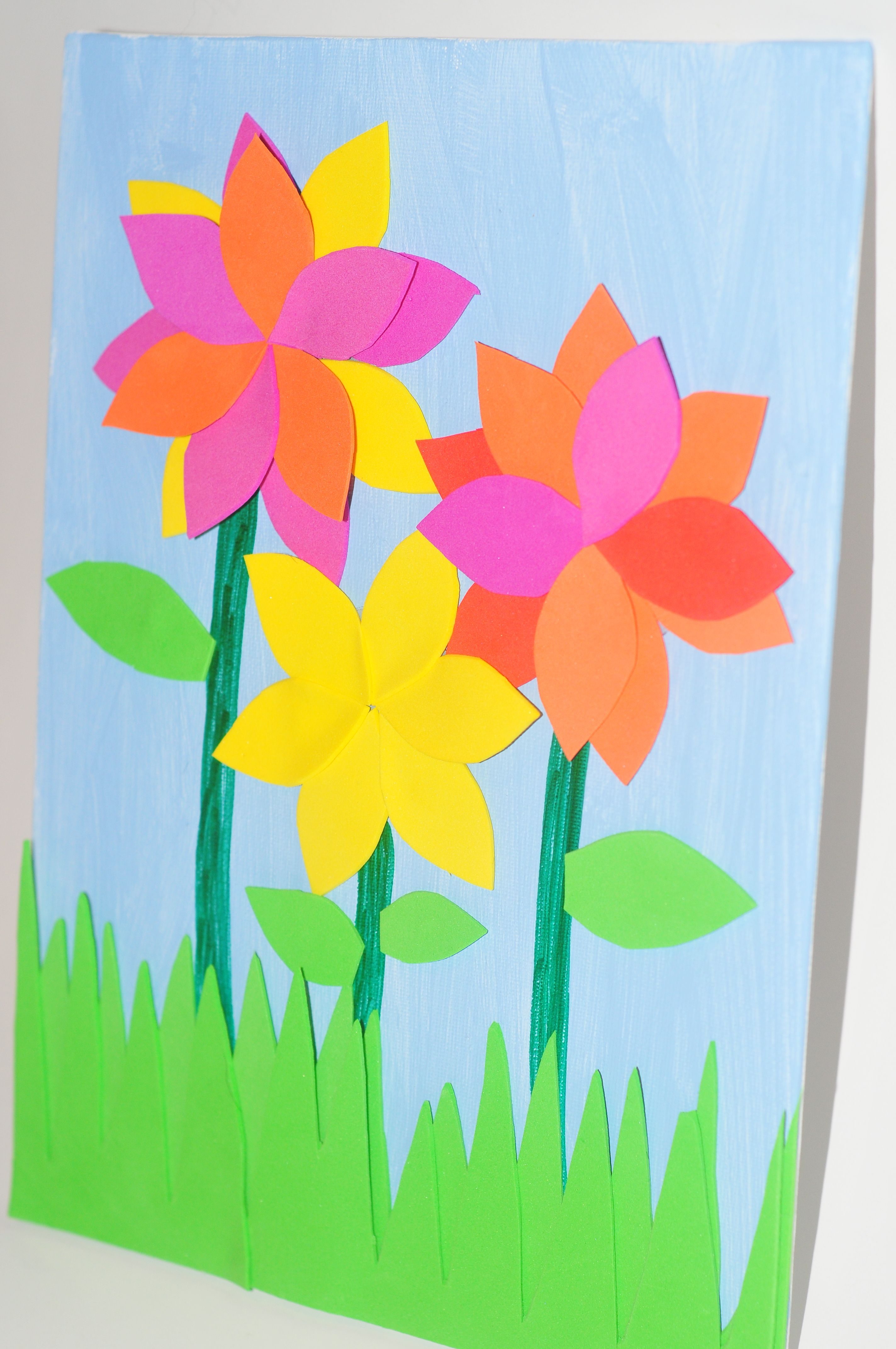 Make it pretty wednesdays mother 39 s day kid 39 s flower art for Flower arts and crafts
