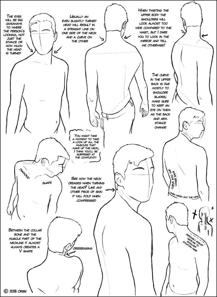 Over The Shoulder (male) Tutorial By ~dersketchie On Deviantart