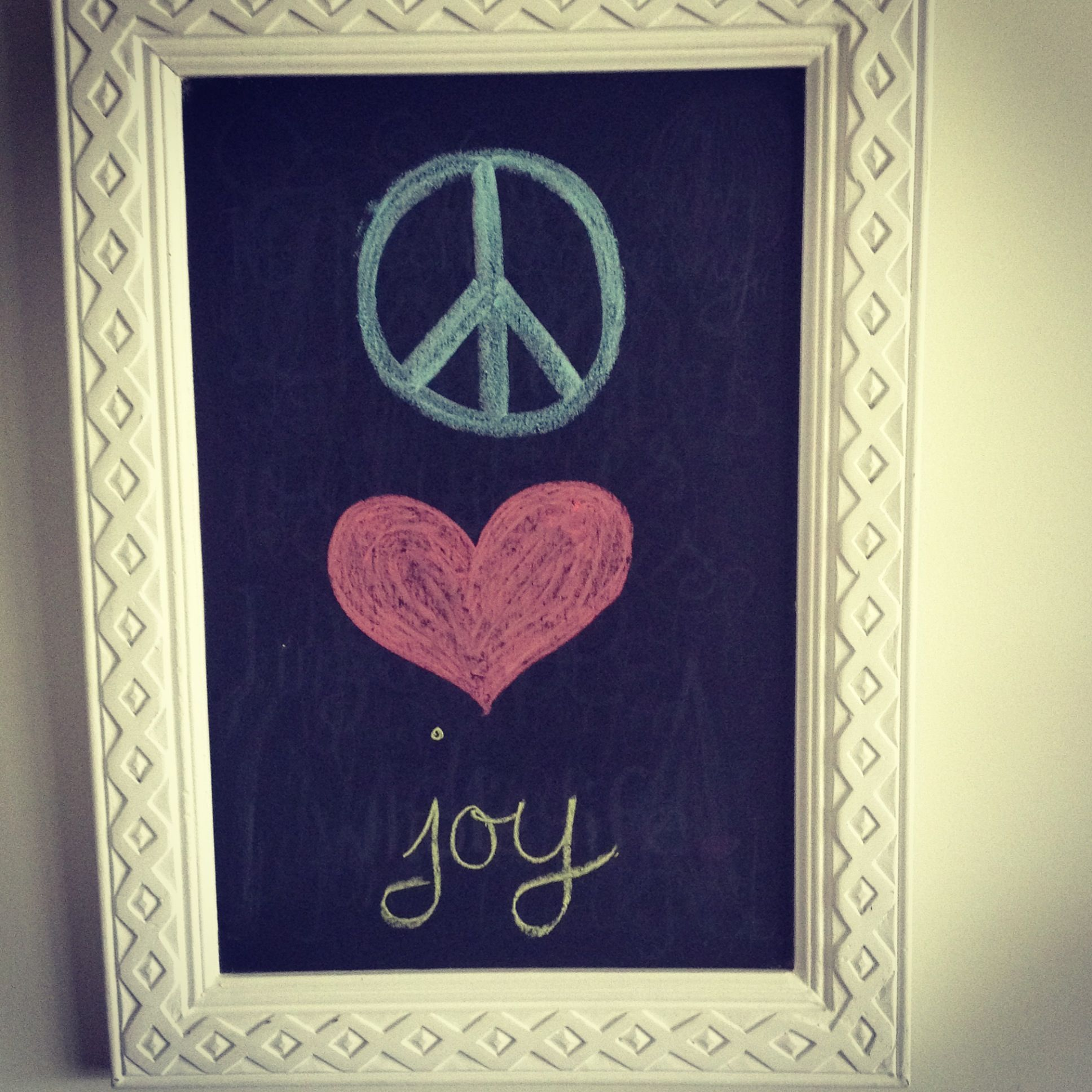 Chalkboard quote for Christmas ... Peace, love, joy. | Welcome to my ...