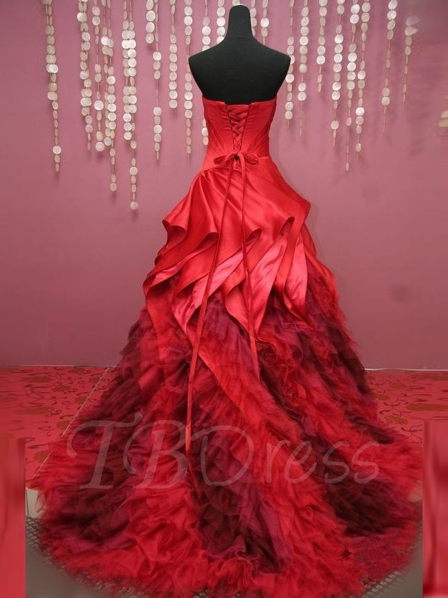Sweetheart Ball Gown Pick-Ups Pleats Court Train Quinceanera Dress