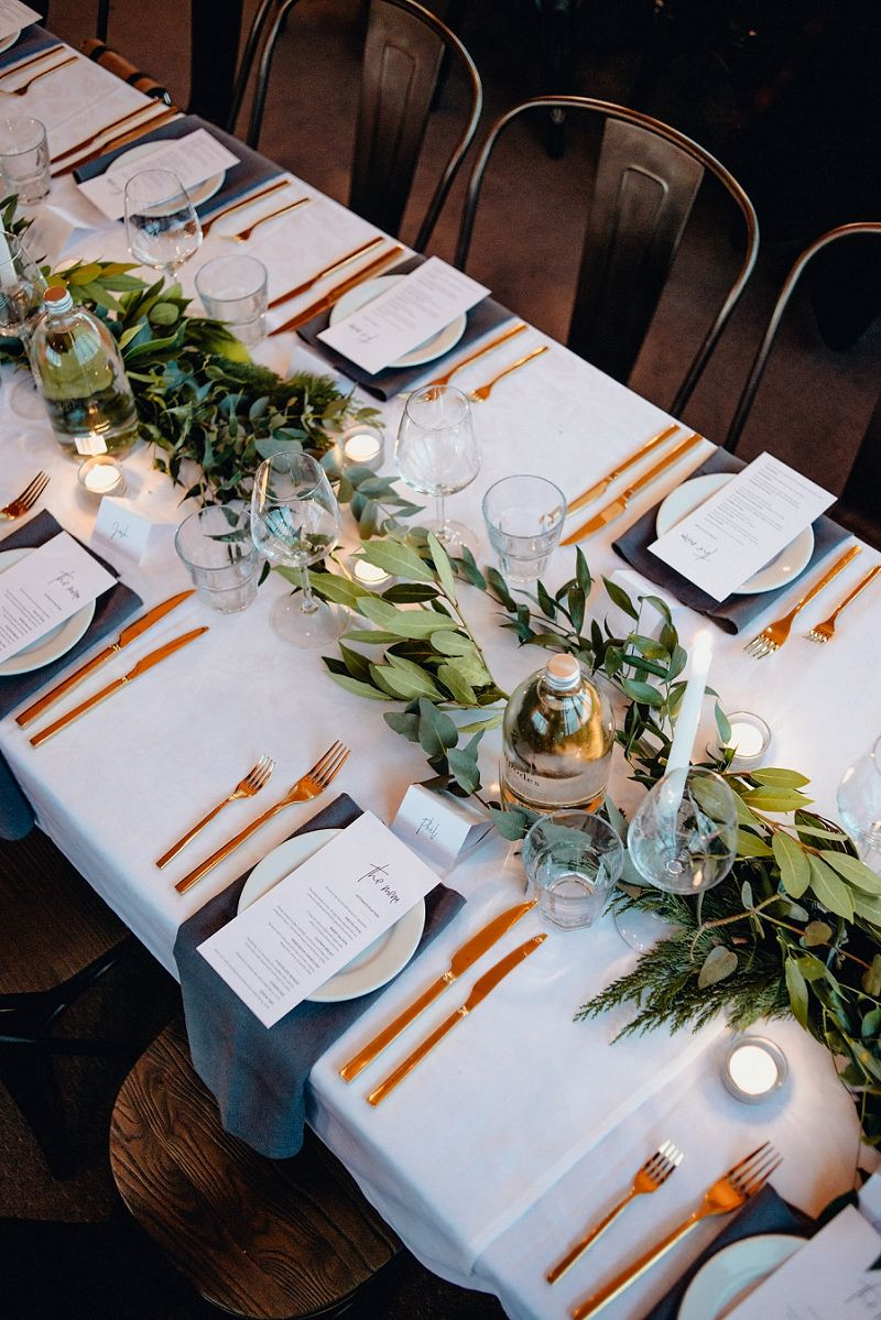 A breathtaking urban dunedin wedding by acorn photograpahy wedding gold cutlery real wedding hired from the pretty prop shopauckland new zealand theprettypropshop junglespirit Choice Image