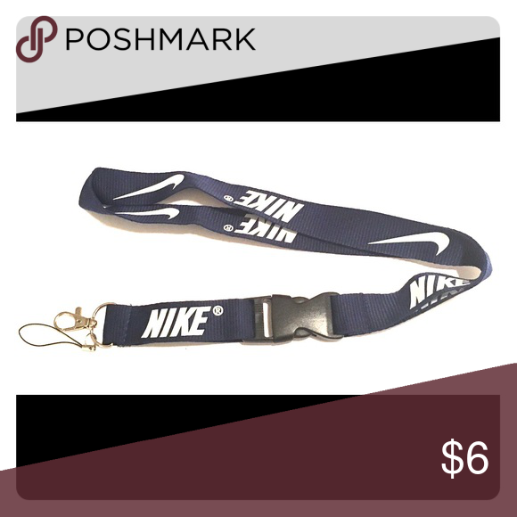 New Nike Lanyard ID Badge Holder Pink & White
