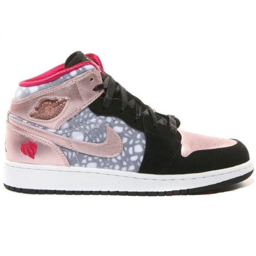 78f8241cafc78e  57 for girls Air Jordan 1 Phat GS High Valentines Day Black Storm Pink  Voltage Cherry 364781-019