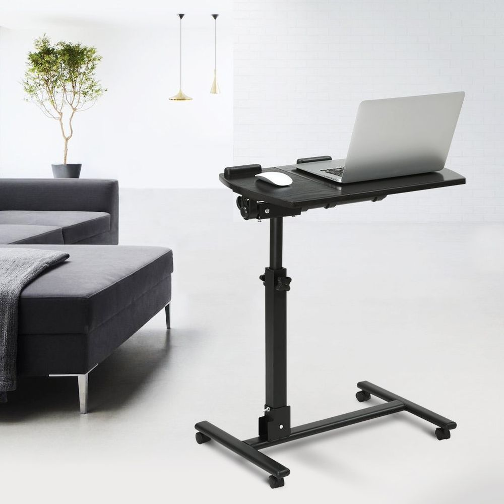 Portable Laptop Desk Stand Cart with Mouse Board Adjustable Height
