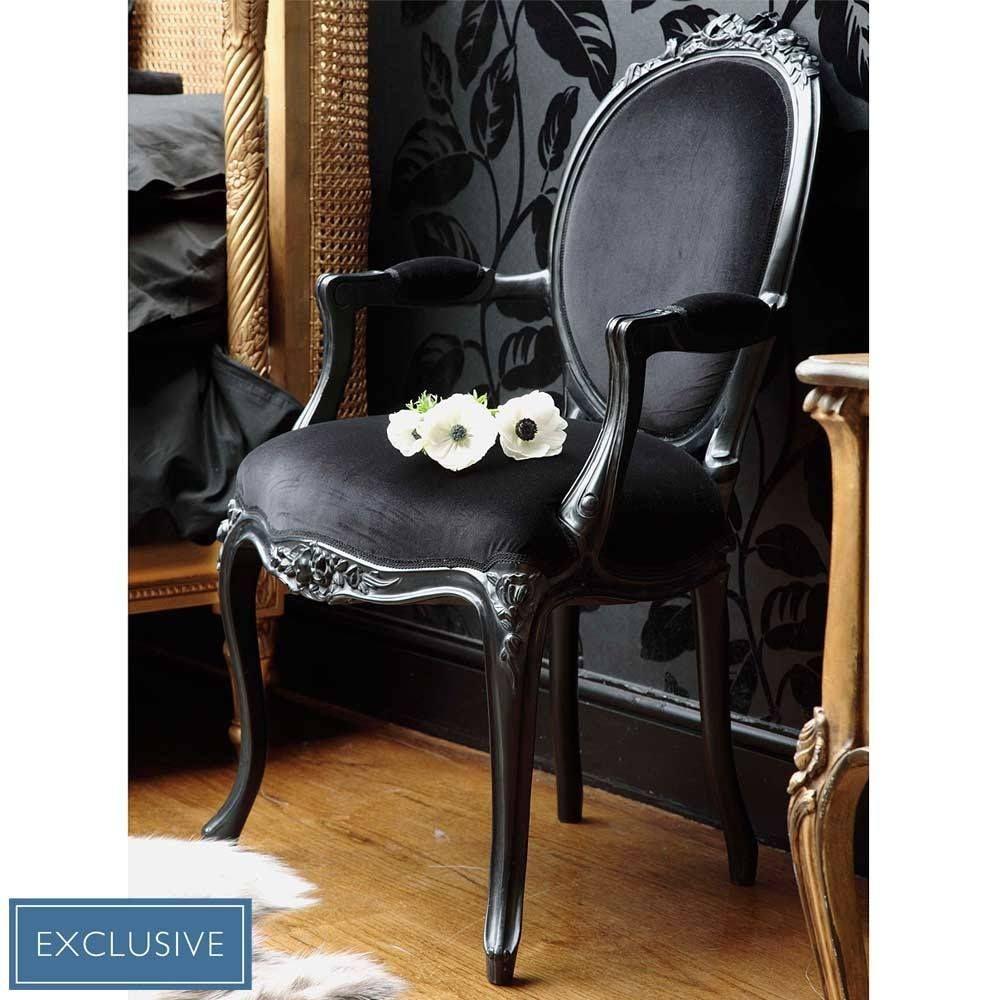 sassy boo lady s black velvet chair