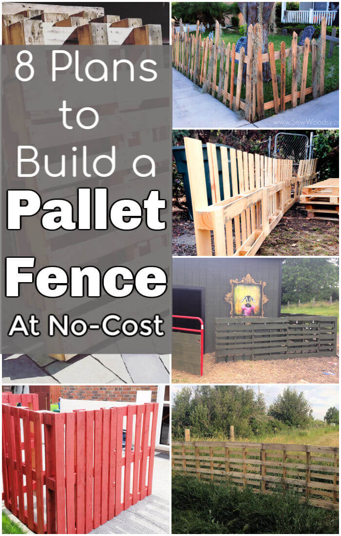 8 Free Plans & Ideas to Build a Pallet Fence #oldpalletsforcrafting