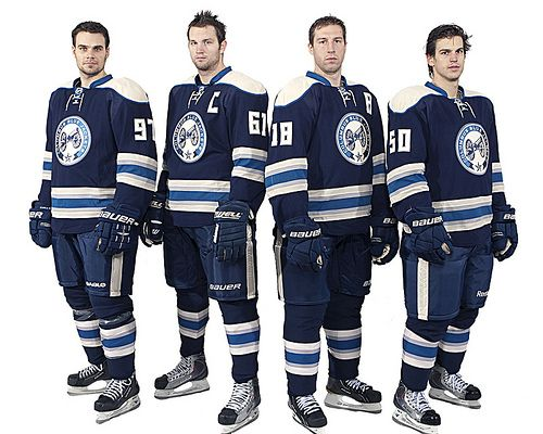 Blue Jackets Third Jerseys And Uniforms Columbus Blue Jackets Blue Jacket Hockey Uniforms