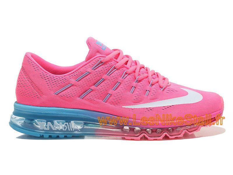 Nike Air Max 2016 Femmes Baskets Chaussures de running rose bleu