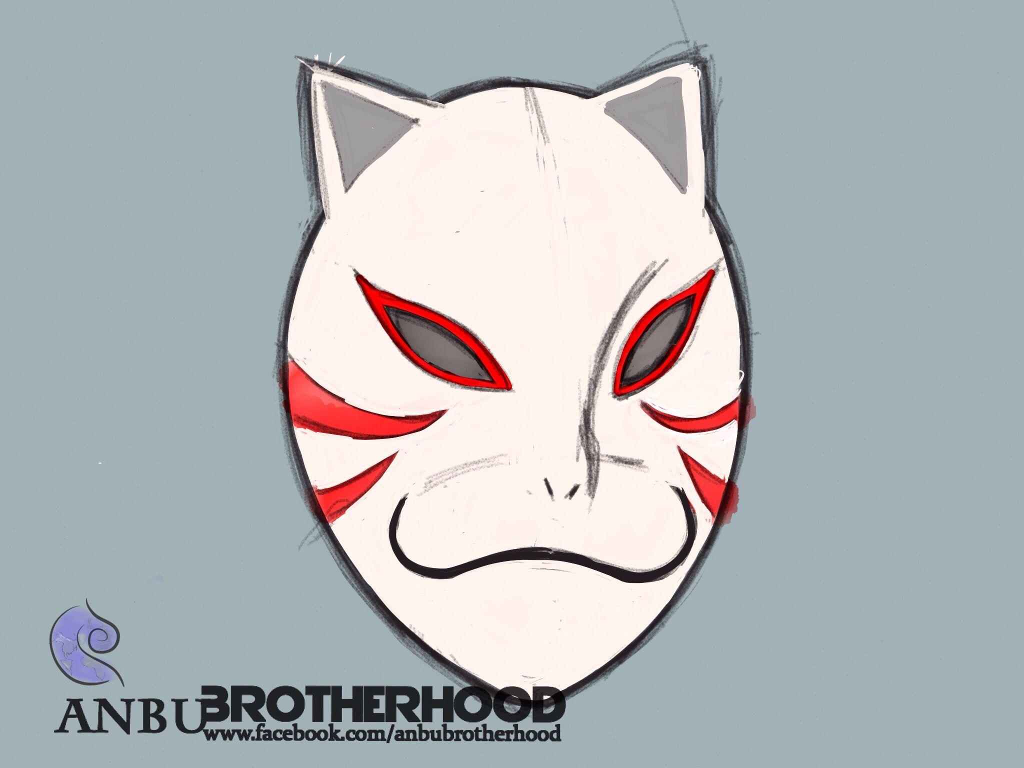 Kakashi ANBU mask, concept sketch | ANBU black ops by ANBU ...