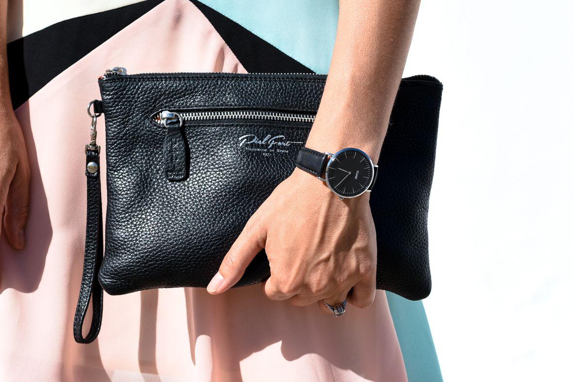 The Black Lexington clutch bag by PielFort Luxury.