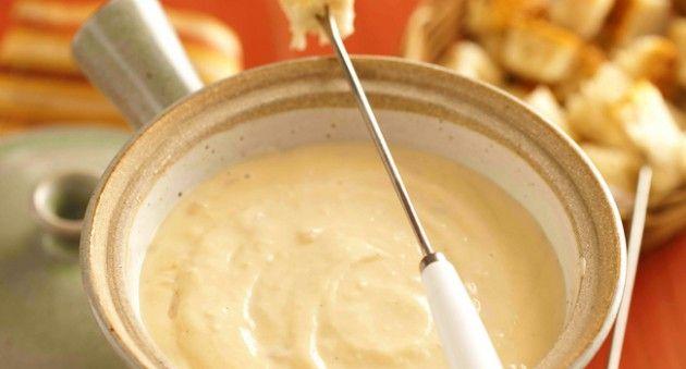 fondue de queso crema y cebolla