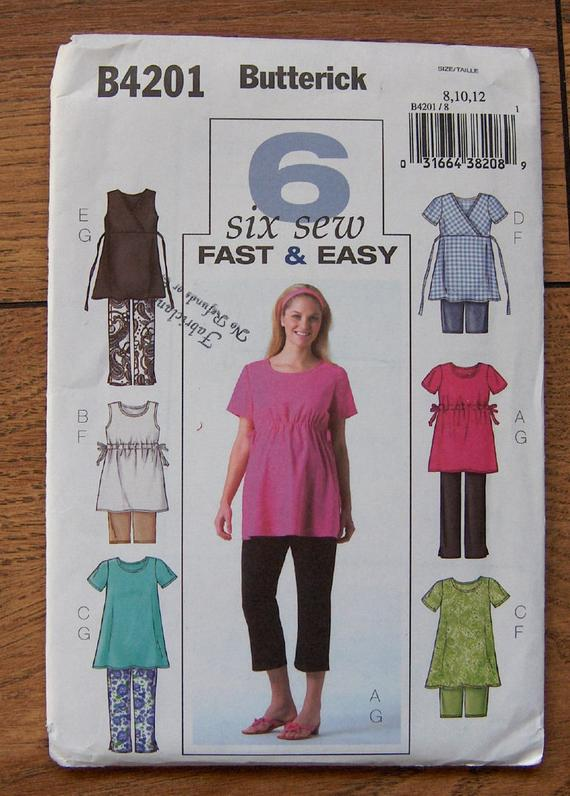 Butterick SEWING PATTERN B4201 Misses /& Petite Maternity Tops,Shorts,Pants,Easy