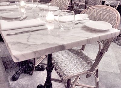 love cafe chairs & marble cafe tables with iron stands