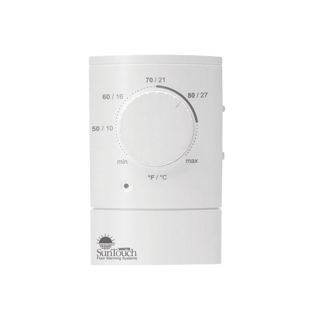 Suntouch Floor Warming Sunstat 120 Volt 240 Volt Non Programmable Floor Heating Control 500710 Sc Floor Heating Systems Floor Heating Thermostat Flooring