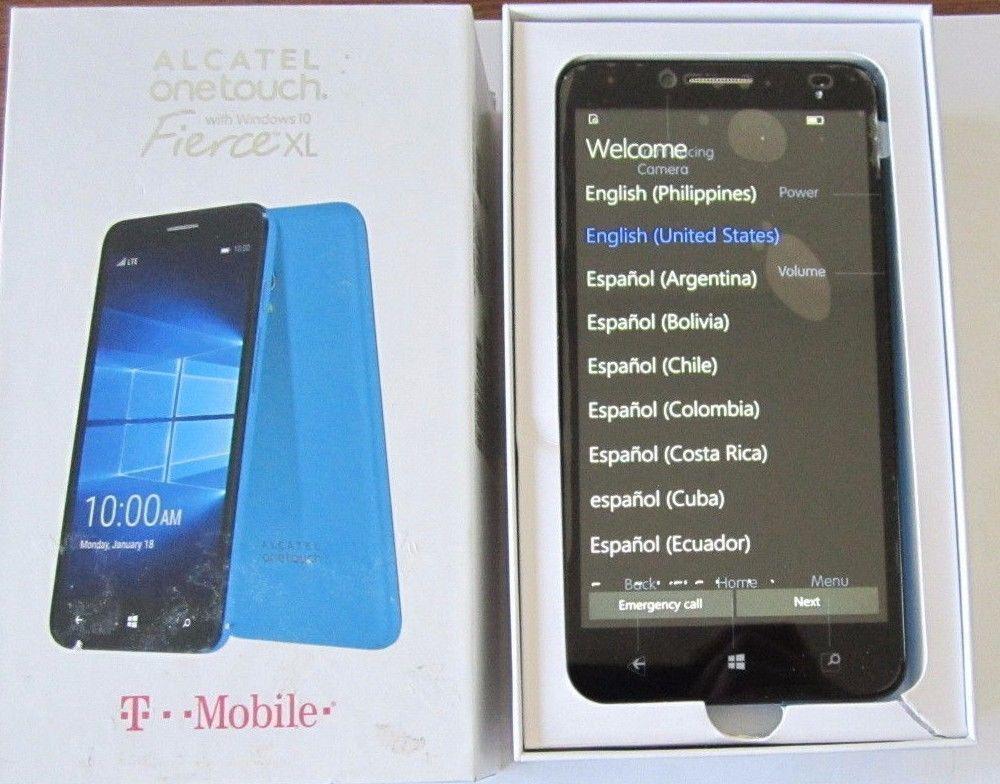New T Mobile Alcatel Onetouch Fierce Xl 5055w Windows 4g Gsm Smart