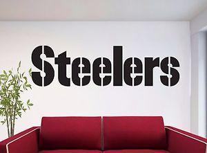 PITTSBURGH STEELERS Lettering Logo ~ WALL DECAL * Vinyl STICKER ~ ANY COLORS & PITTSBURGH STEELERS Lettering Logo ~ WALL DECAL * Vinyl STICKER ...