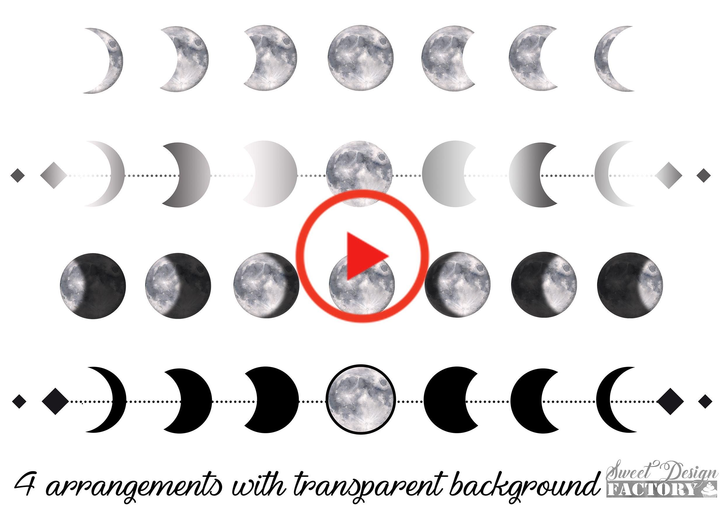 Clipart Reveler L Aquarelle Eclipse Cliparts Charge Eclipse Pleine Lune Clipart Mariage In 2020 Moon Phases Tattoo Watercolor Moon Moon Cycle Tattoo
