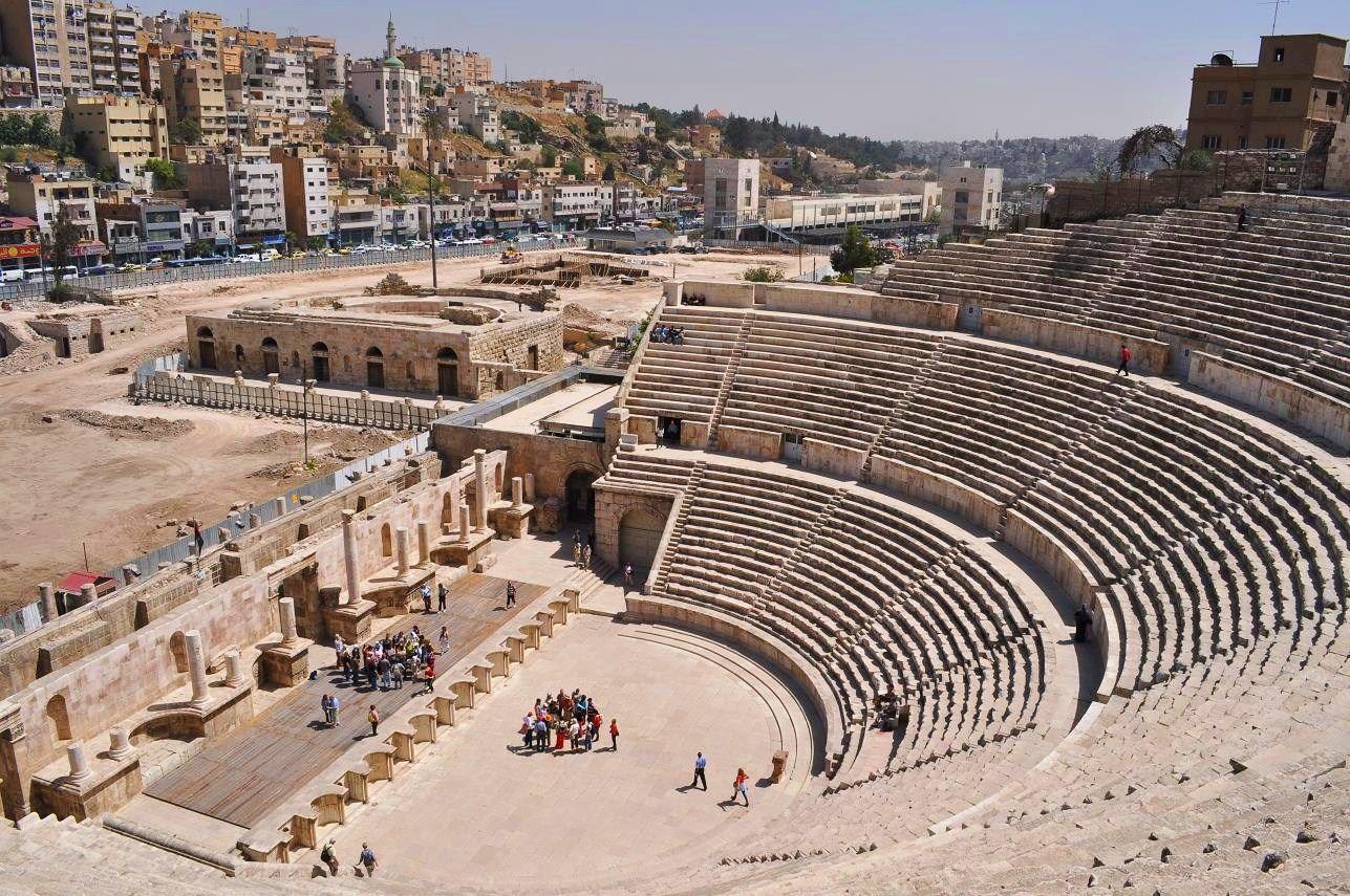 Citadel and Roman Theatre, Amman, Jordan. I love this ...
