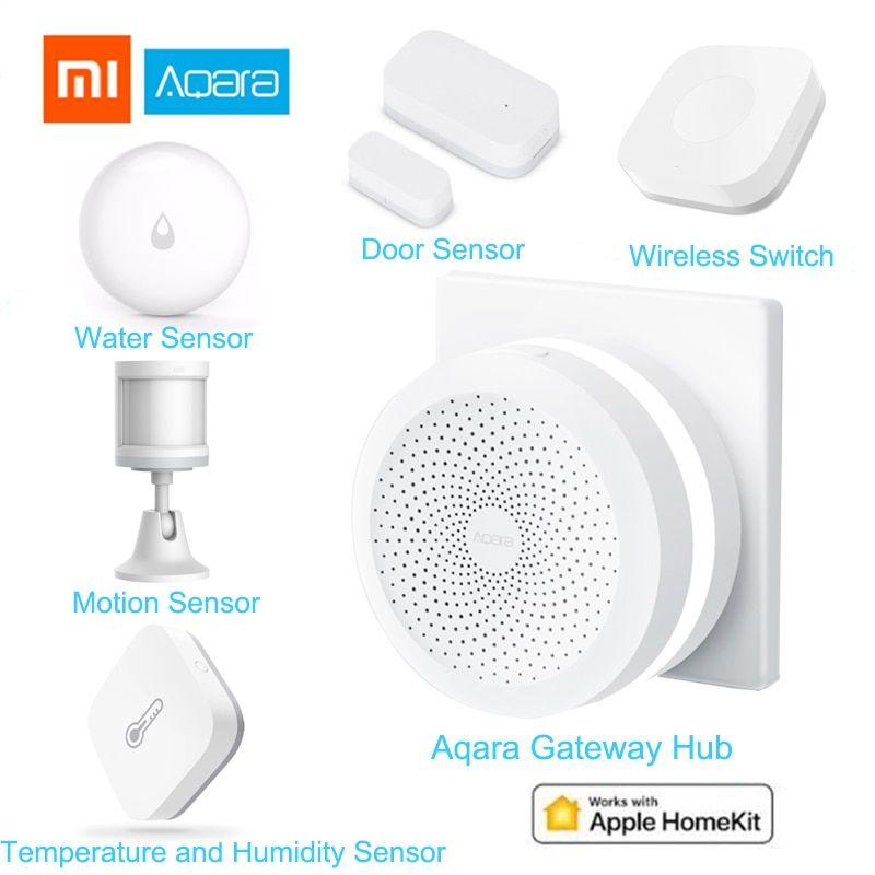 Xiaomi Aqara Smart Home Kits Gateway Hub Door Window Sensor Human Body Wireless Switch Humidity Water Senso Wireless Switch Smart Home Temperature And Humidity