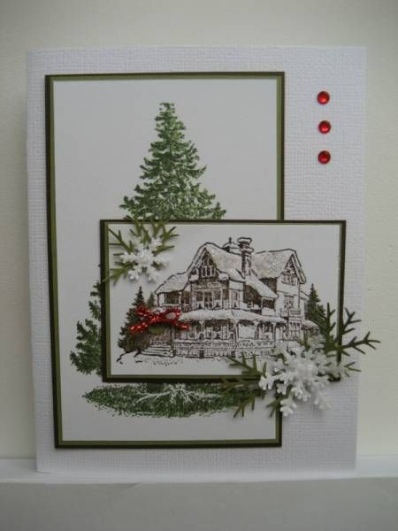 The Christmas Lodge.A Christmas Lodge By Tankerton Cards And Paper Crafts At