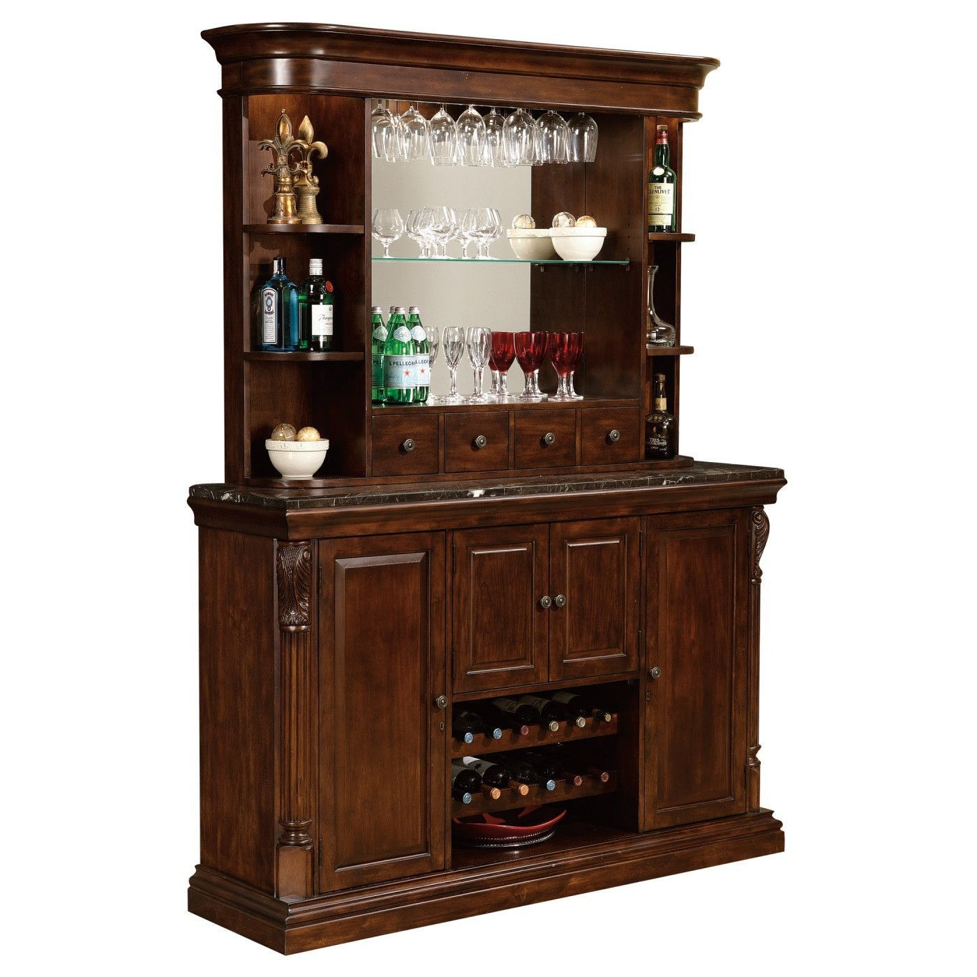 The Howard Miller Niagara Bar Hutch Is A Back Which Makes For Stylish Addition To Your Home