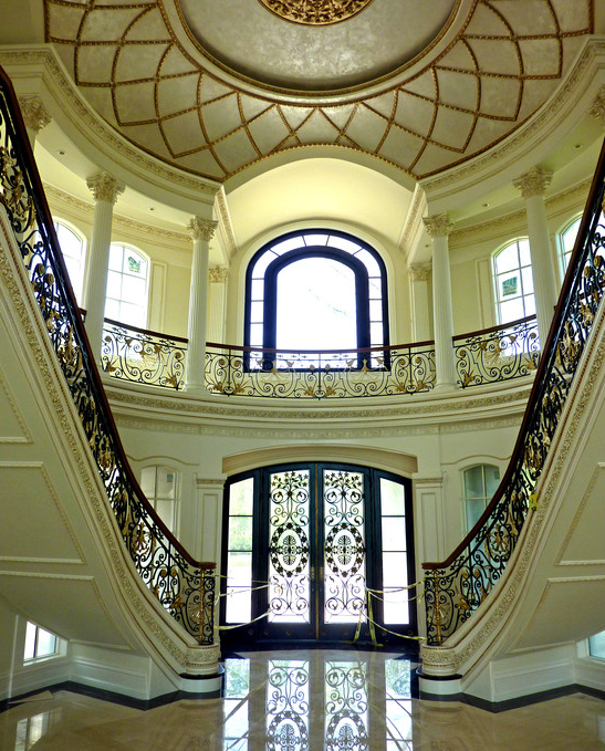 Look At Some Grand Foyers From Houzz Com: Rotunda Foyer With Twin Staircases...