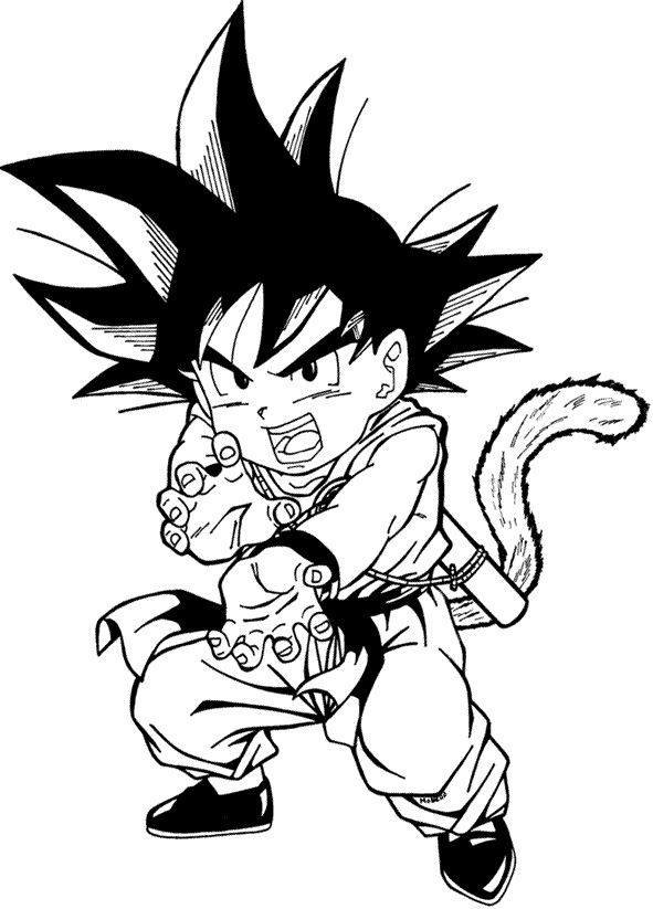 imagenes-dragon-ball-z-para-colorear-paint.jpg (591×823) | LineArt ...