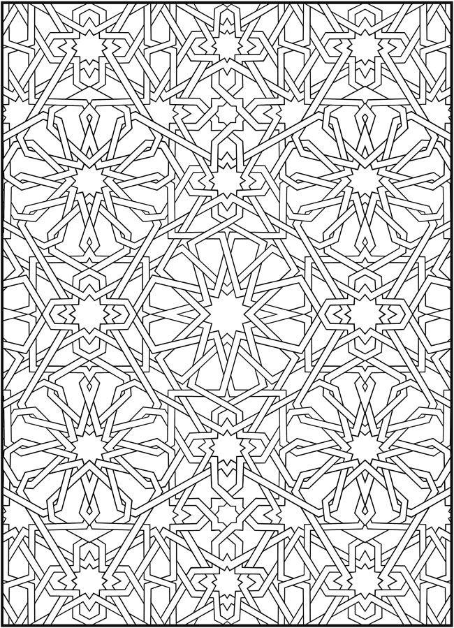 crayola mosaic coloring pages | Patterns | islamic geometric art - İslam sanatında ...