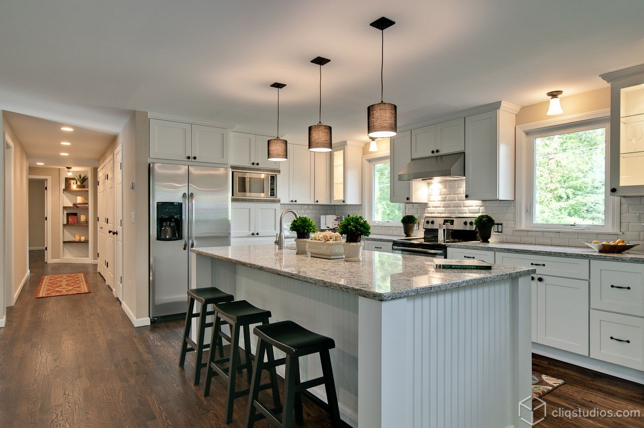 Beautiful Contemporary Kitchen Remodel With New White Mission Inspiration Kitchen Cabinet Outlet Southington Ct Inspiration