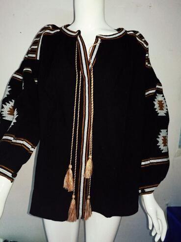 white blouses bohemian style top pattern elegant boho embroidered lantern sleeve tassels loose shirt for women