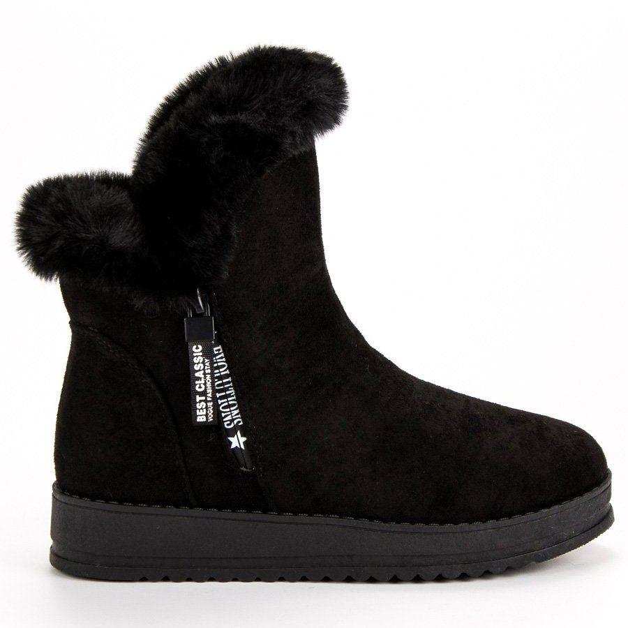 Sportowe Cieple Botki Czarne Boots Ugg Boots Shoes