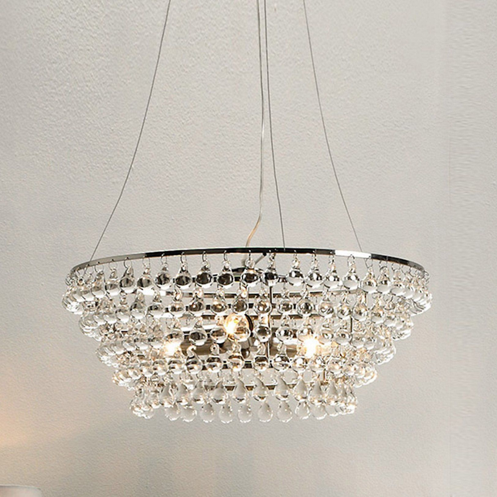 Solid Glass Orb Chandelier Ceiling Lights