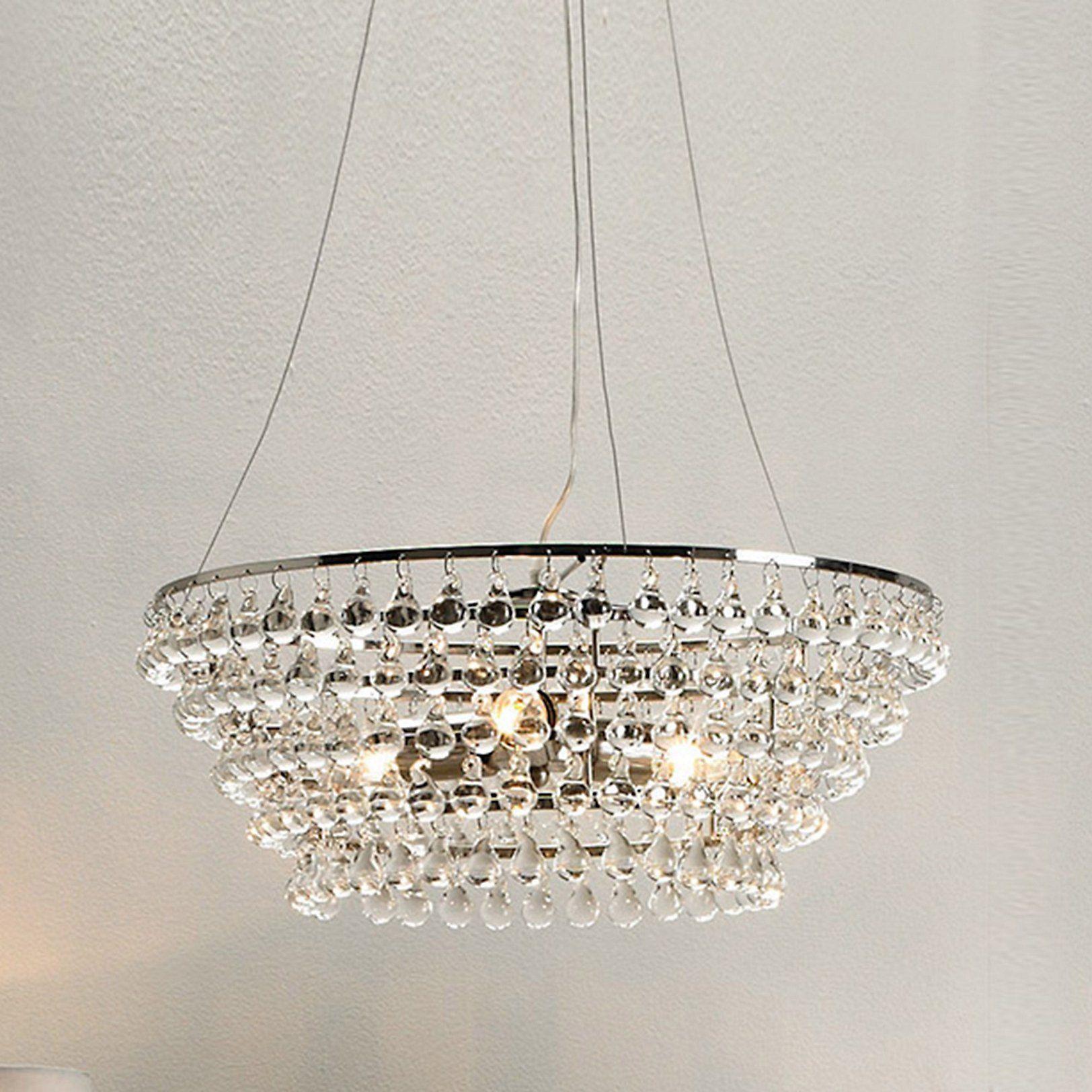 Solid Glass Orb Chandelier Large Ceiling Lights Home