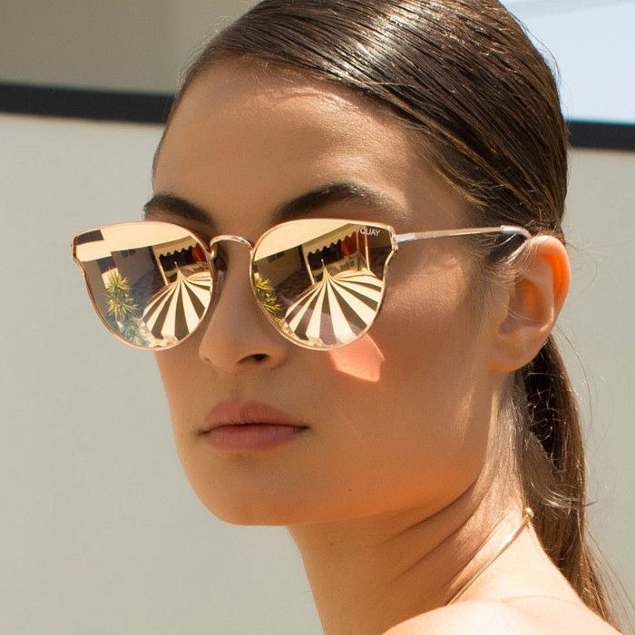 Quay All My Love Rose Gold Pink Sunglasses Rose Gold