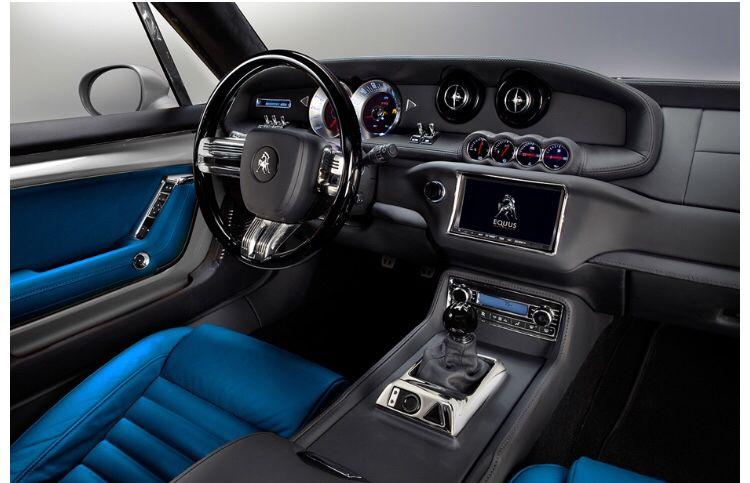 Equus Bass 770 Blue Interior Is Amazing Pony Car Muscle Cars Luxury Van