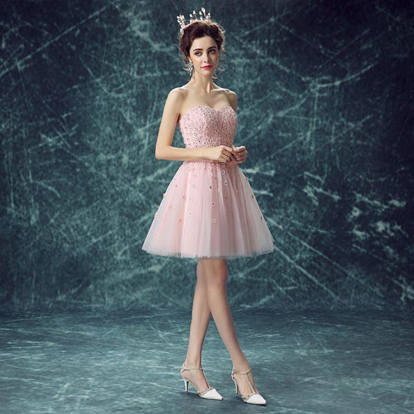 Mode schöne sexy rosa prinzessin kurzes kleid 10038 frauen ...