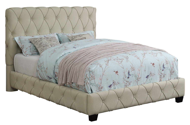 Coaster Elsinore Beige Fabric California King Upholstered