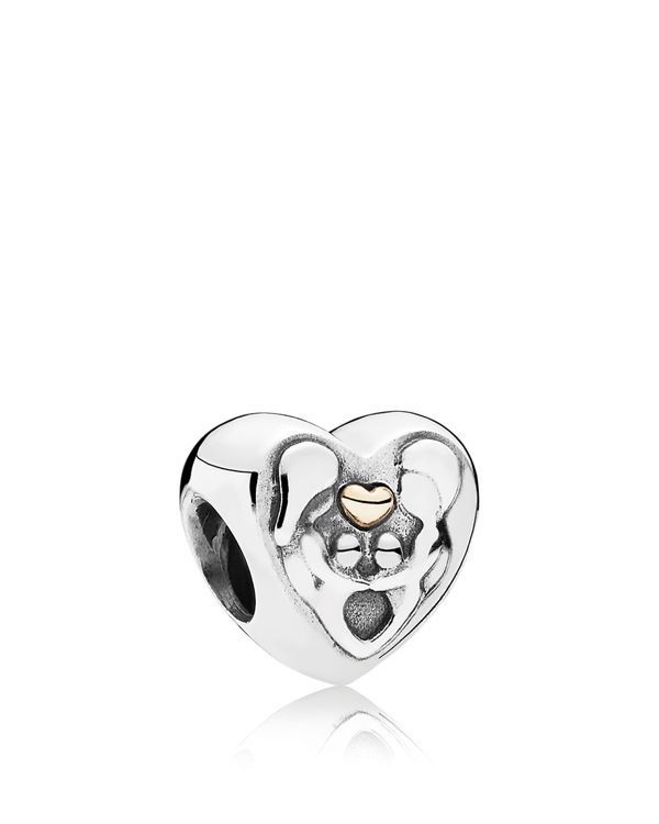 Pandora Charm - 14k Gold & Sterling Silver Heart of the Family, Moments  Collection