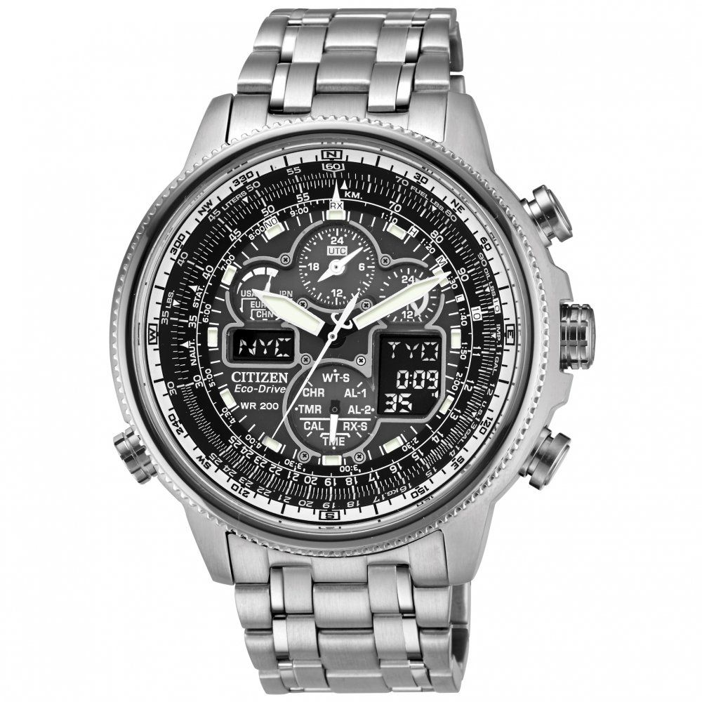 citizen mens navihawk silver eco drive chronograph watchcode citizen men s eco drive navihawk a t two tone stainless steel bracelet watch watches jewelry watches macy s