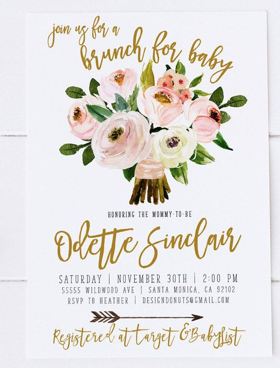 Celebrate The Baby Or Boy On Way With This Lovely Fl Shower Brunch Invitation High Res 300 Ppi Print Lab Quality Designs