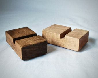 Wood iPhone Dock Aromatic Cedar by MinnesotaWoodcraft on Etsy