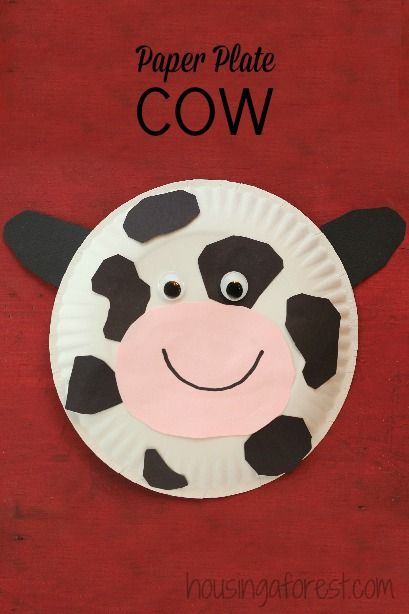 Paper Plate Cow Back To Work I Go Farm Animal Crafts Animal