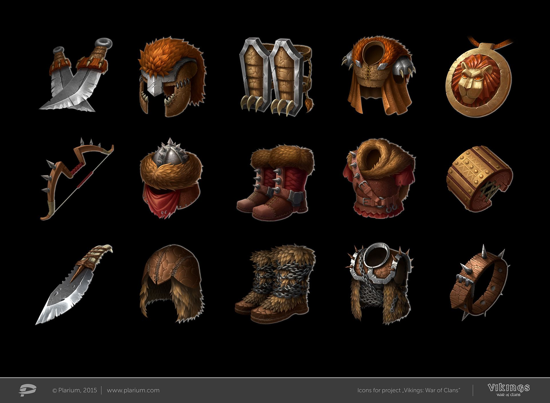 Icons For Project Vikings War Of Clans Sets Of Invaders Lion