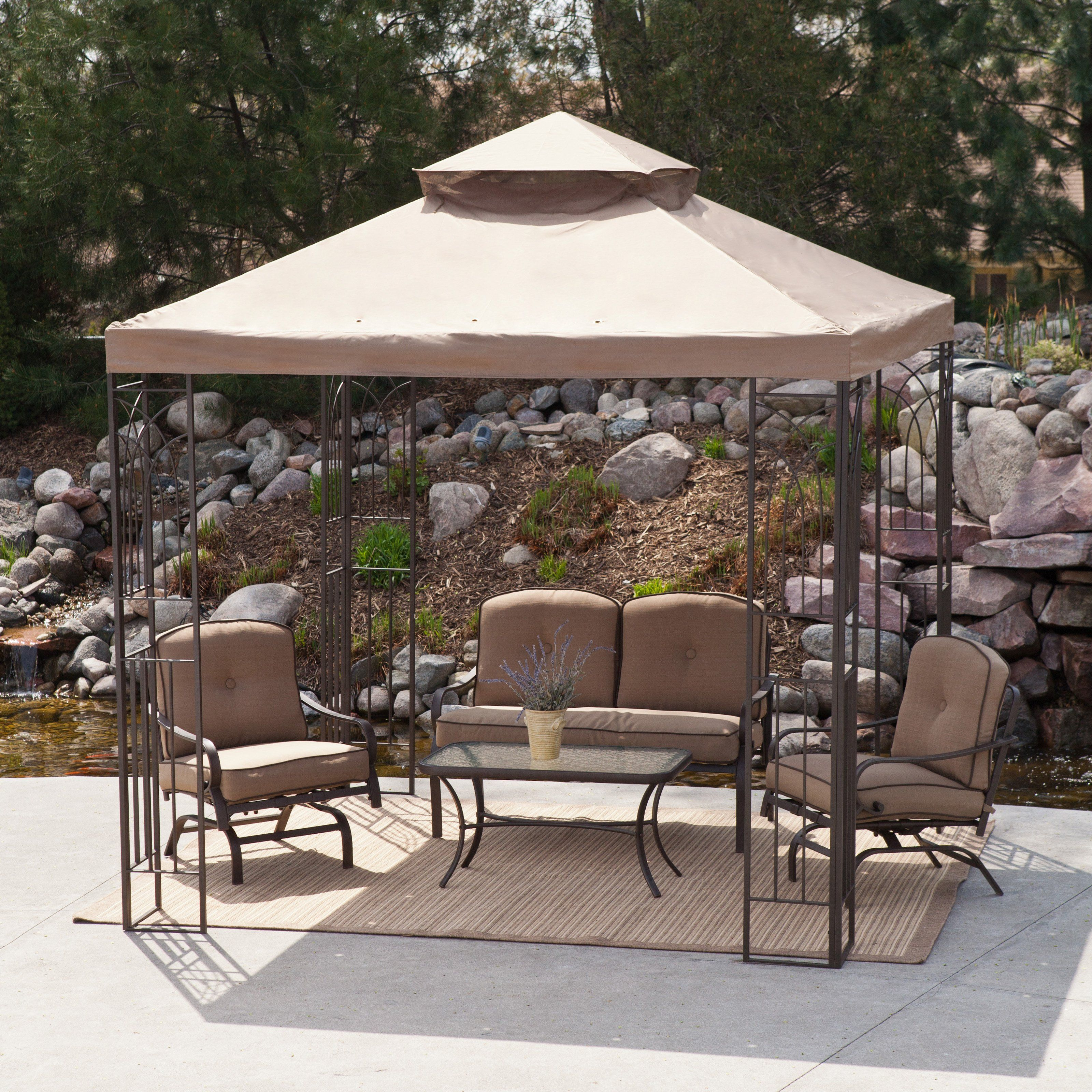 Coral Coast Prairie Grass 8 X 8 Ft. Gazebo Canopy   The Coral Coast Prairie  Grass 8 X 8 Ft. Gazebo Canopy Is A Beautiful Addition To Any Backyard Area,  ...