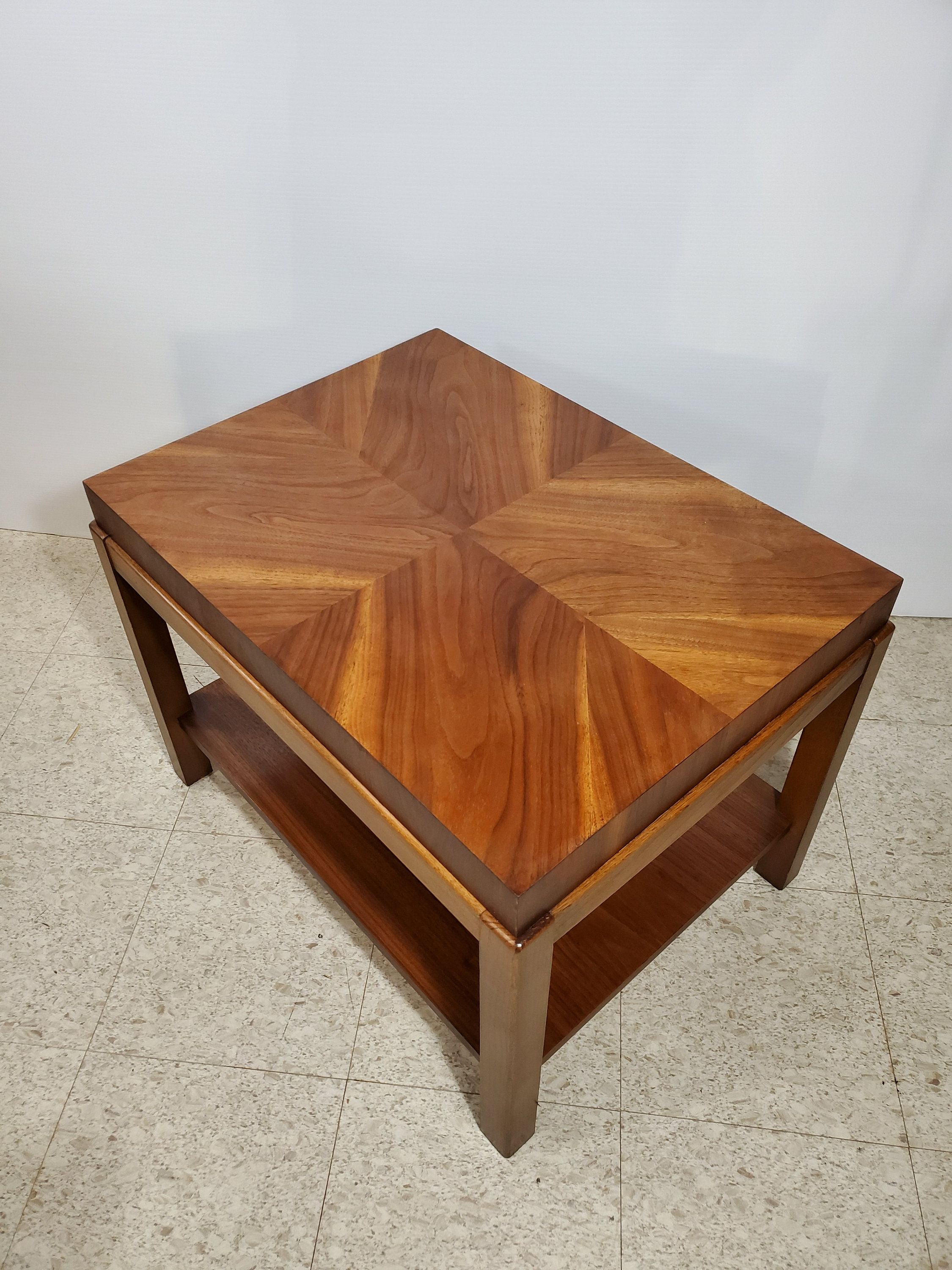 Midcentury Modern Book Matched Grain Lane Furniture Side Table Refinished Top Coffee Table Wood Cherry Wood Coffee Table Coffee Table [ 3000 x 2250 Pixel ]
