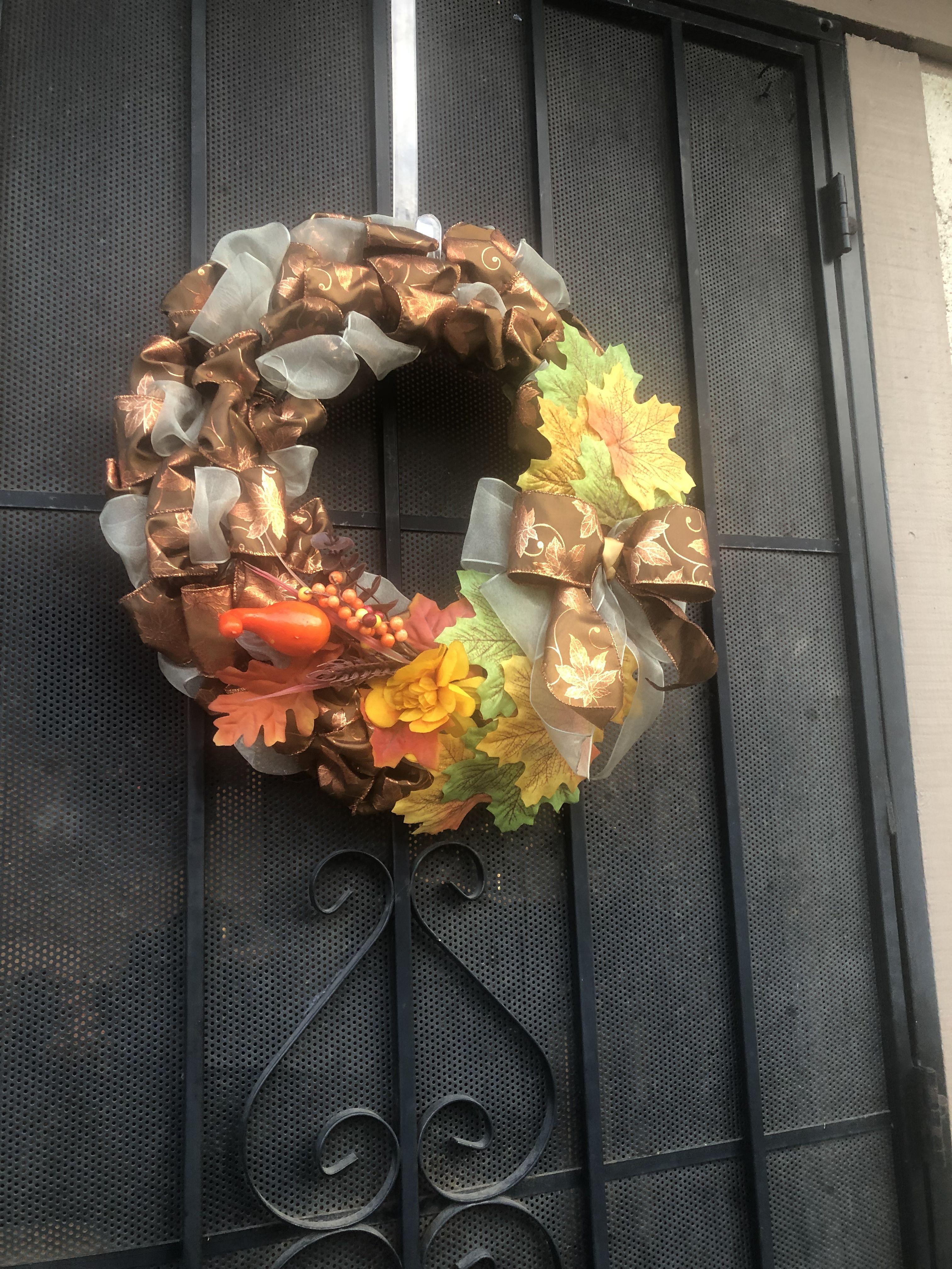 Fall wreath. | Fall wreath, Wreaths, Fall
