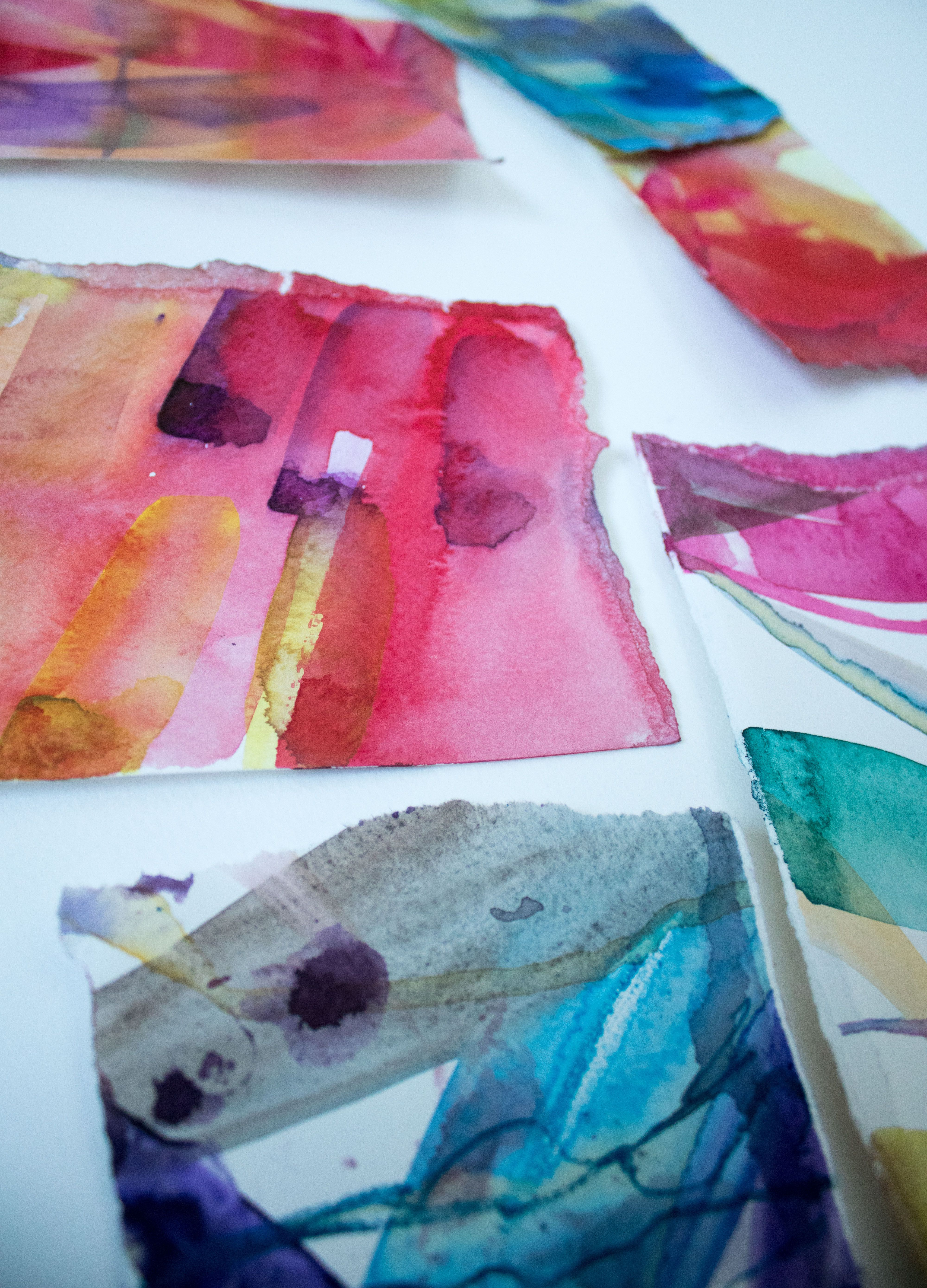 Watercolour Colour Experiments From Artist Helen Wells